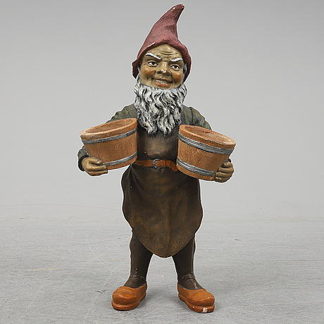 A terracotta gnome, probably germany.