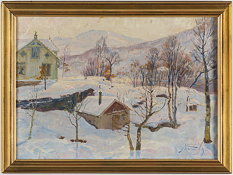 Justus lundegÅrd, oil on canvas, signed and dated -99.
