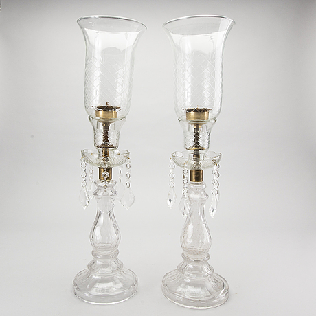 A pair of candel holders, 20th century.
