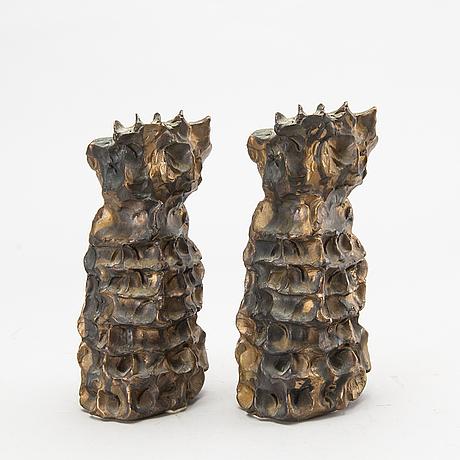 Two danish bronze sculptures by carl-henning pedersen.