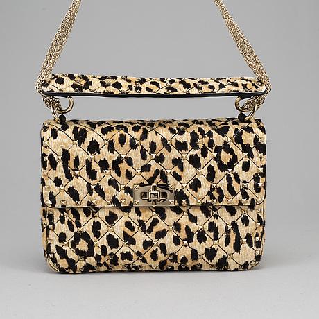 "Valentino, ""leopard pony spike bag ""."
