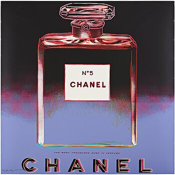 """322. Andy Warhol, """"Chanel"""" from """"Ads""""."""