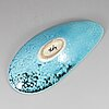 Hans hedberg, a faience dish, biot, france, signed hhg.