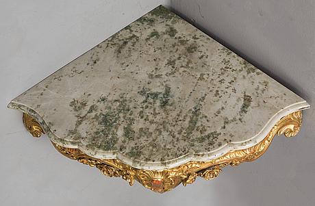 A swedish rococo console table, second half of the 18th century.