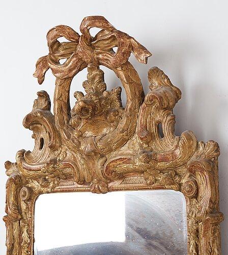 A swedish transition mirror, stockholm 1777.