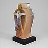 Bertil vallien, a glass sculptuire from kosta boda, numbered 22/55.