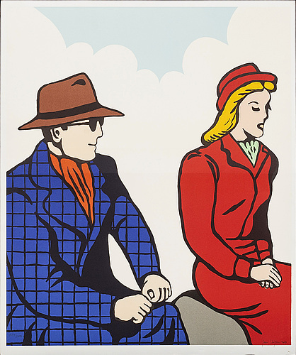 Jan hÅfstrÖm, lithograph in colour, signed and numbered 1425/2000, dated 2003.