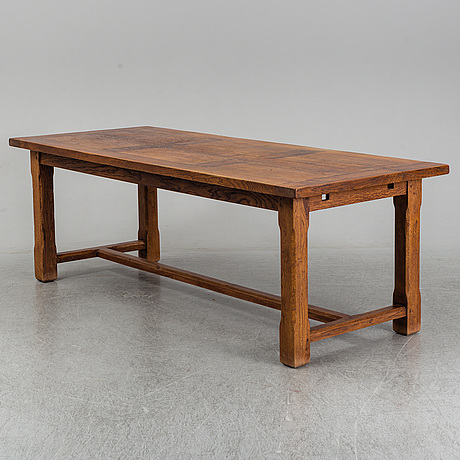 A mid 20th century oak dining table.