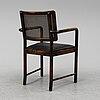 Axel einar hjorth, a atined birch and rattan 'bertil' armchair from nordiska kompaniet, 1936.