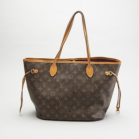 Louis vuitton, a 'neverfull mm' tote bag.