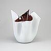 A 'fazzoletto' bowl by a p. venini and f. bianconi for venini, murano, italy.