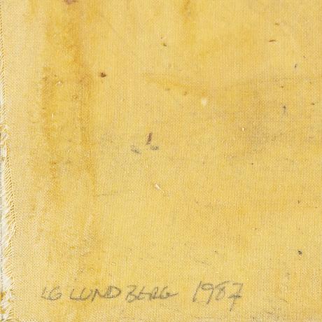 Lg lundberg, mixed media, signed lg lundberg and dated 1987.