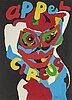 Karel appel, lithograph in colours, 1978, signed 164/200.