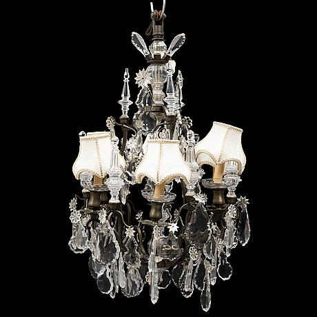 A baroque style chandelier, mid 20th century.