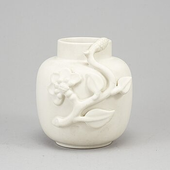 WILHELM KÅGE, a mid 20th century stoneware 'Carrara' vase for Gustavsberg.