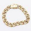 Bracelet, 18k gold, 42,8 g, measurements approx 19 x 1 cm, stockholm 1978.