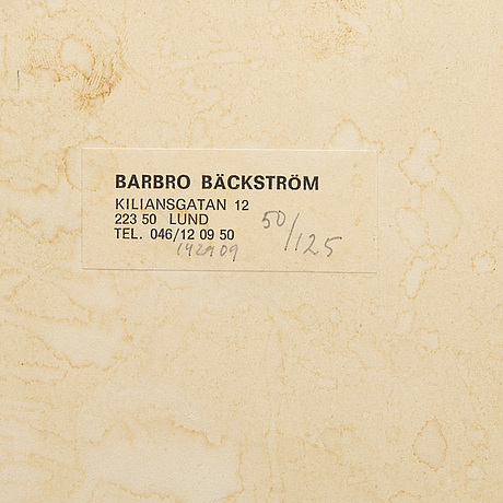 Barbro bÄckstrÖm, a signed dated and numbered plastic sculpture.