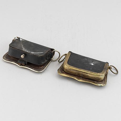 KartuschlÅdor, 2 st, danska, 1800-tal.