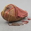 Komse, a sami cradle, leather and pine.