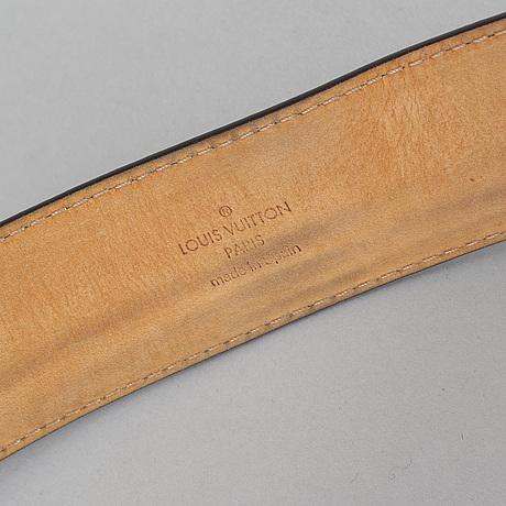Louis vuitton, a damier ebène belt, size 100/40.
