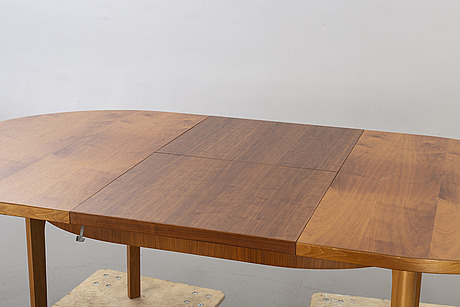 A second half of the 20th century walnut dining table.