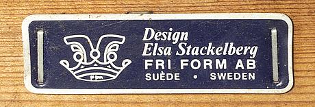 Elsa stackelberg, trÄdgÅrdsfÅtÖljer, ett par, fri form ab.