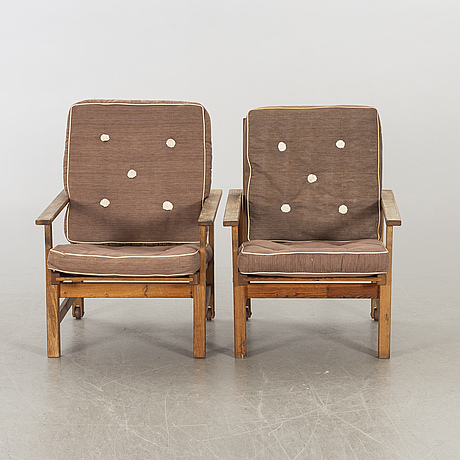 A pair of garden armcahirs, elsa stackelberg for fri form.