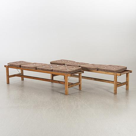 Two garden benches, elsa stackelberg for fri form.