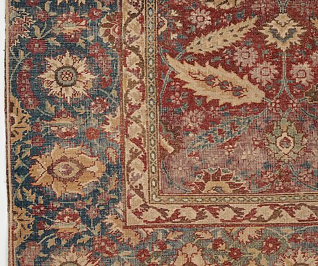 A mughal rug, an antique indian, the second half of the 17th century, ca 191-198,5 x 126,5-127,5 cm.