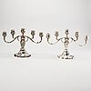 A pair of silver candelabras. e.hoff, helsningborg. 1931. filled foot.