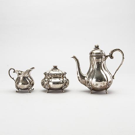A silver 3 pcs tea service. 1933. total weight 700 gram.