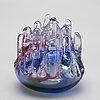 A glass culpture / lantern, gÖran wÄrff for kosta, signed, unique.