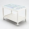 Birger kaipiainen, a tray table/tea trolley signed kaipiainen 1942, arabia.