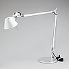 """A pair of """"tolomeo"""", michele de lucchi and giancarlo fassina for artemide italian table lamps."""