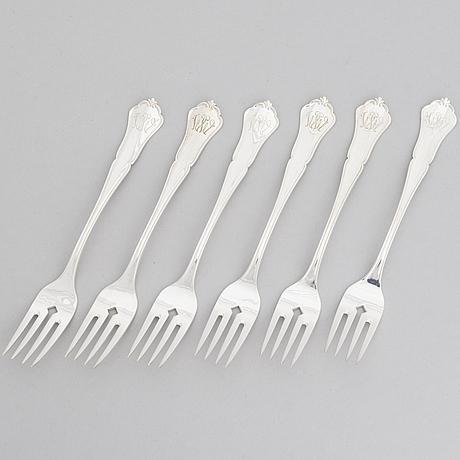 A 50-piece set of 'chippendale' silver cutlery, kultakeskus, hämeenlinna, finland 1938-1977.