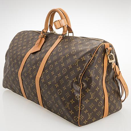 Louis vuitton, keepall 55 bandouliere weekend bag.