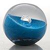 Oiva toikka, a glass sculpture/ paper weight signed oiva toikka nuutajärvi 3/2000 and  35/2000.