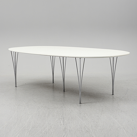 Piet hein & bruno mathsson, a 'superellips dining table from miab/fritz hansen, 1982.