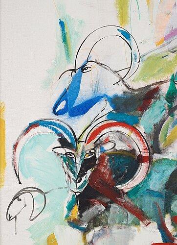 Madeleine pyk, oil on canvas, signed m. pyk.
