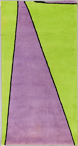 "Olle baertling, a rug, ""yoy"", handtufted,  baertling/asplund, 194 x 101,5 cm."