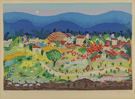 Lennart jirlow, lithograph in colours, 1978, signed ea.