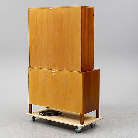 A 1950's mahogany cabinet by david rosén for nordiska kompaniet.