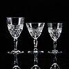 An edward hald part 'rio' glass service, orrefors (28 pieces).