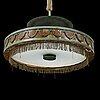 A 1930s art déco ceiling light.