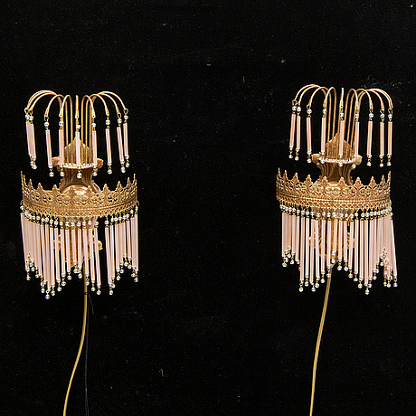 A pair of early 20th century wall lights.
