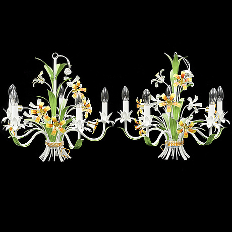 A pair of italian ceiling lights, second half of the 20th century.