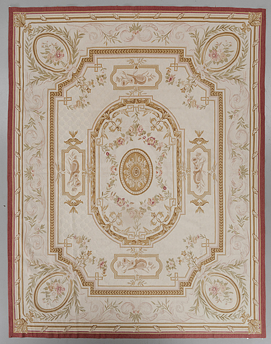 A chinese aubusson style carpet ca 310 x 239 cm.