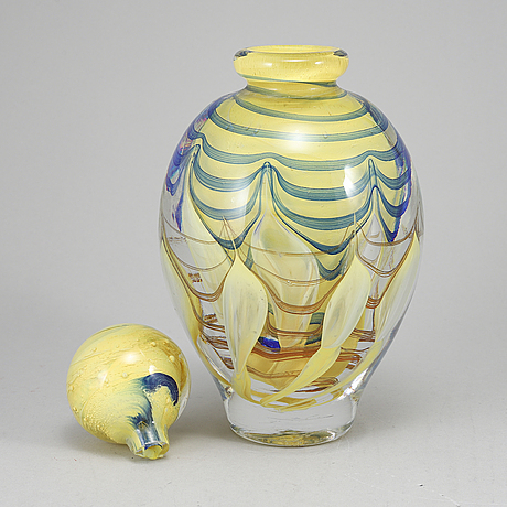 A jean claude novaro bottle with stopper, signed and dated 1999.