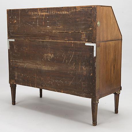 Kirjoituslipasto, myöhäiskustavilainen, noin 1800.