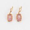 Kunzite and diamond earrings.